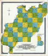 Douglass County OUtline Map, Douglas County 1915